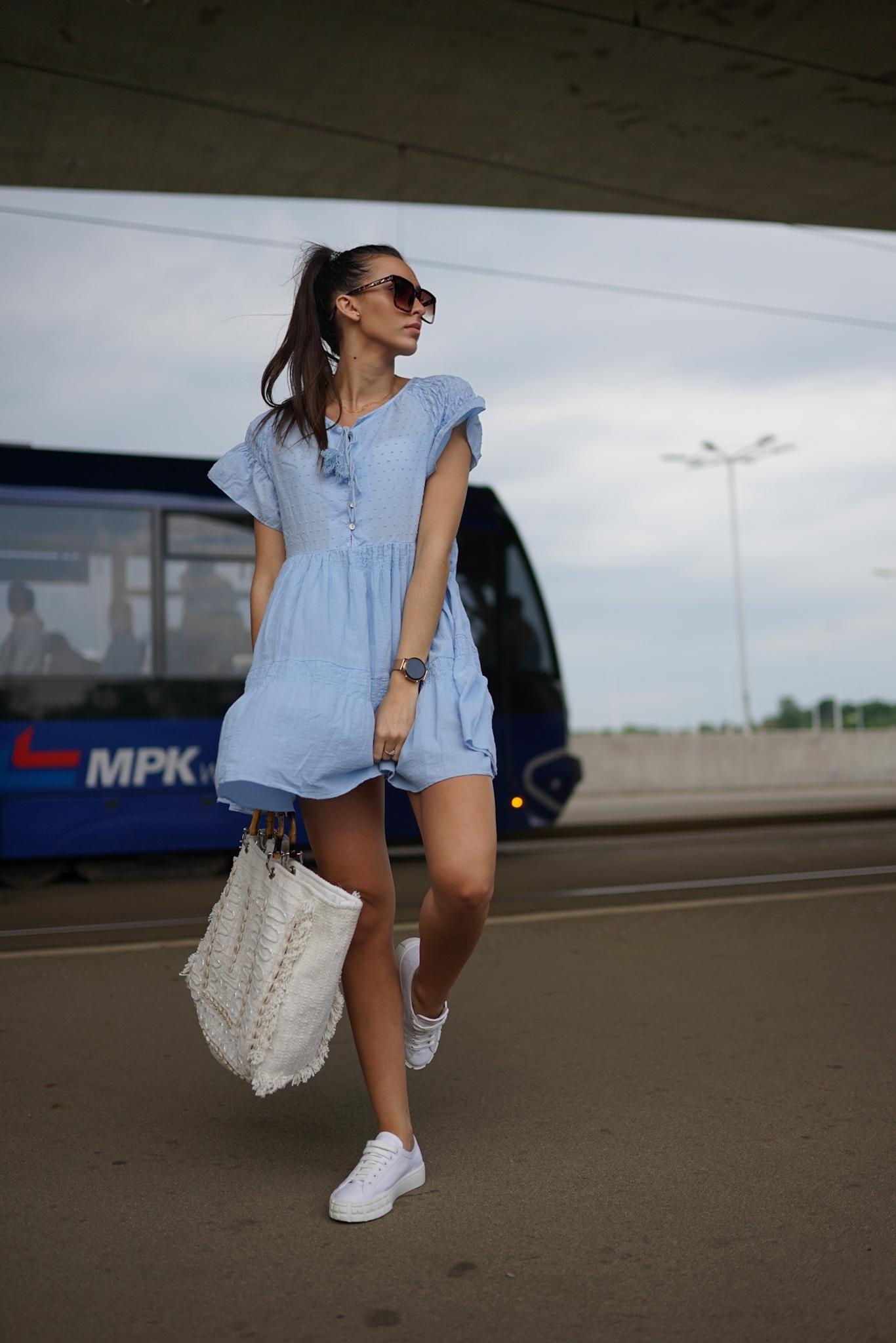 SUKIENKA TUNIKA WIYA SUMMER  BLUE - Zdjęcie